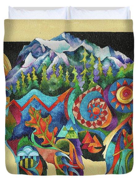 Spirit Bear Totem Duvet Cover