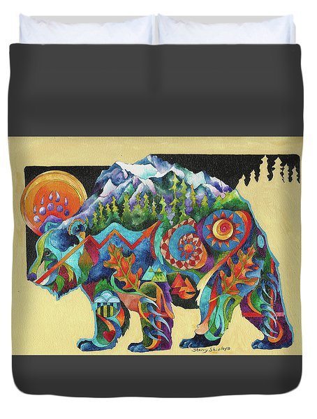 Spirit Bear Totem Duvet Cover