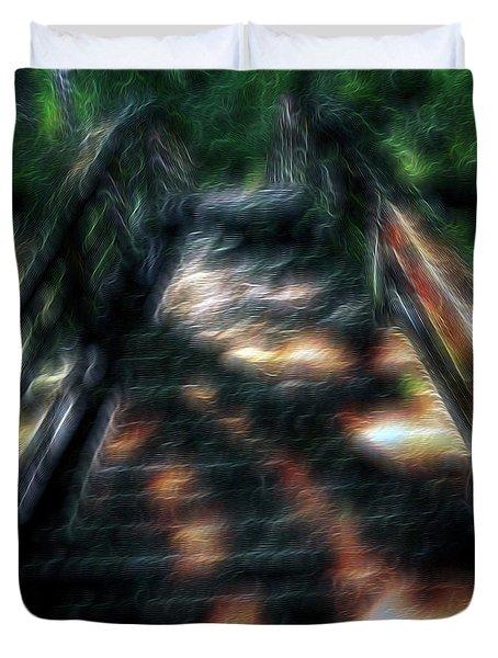 Spirit Bridge Duvet Cover by William Horden