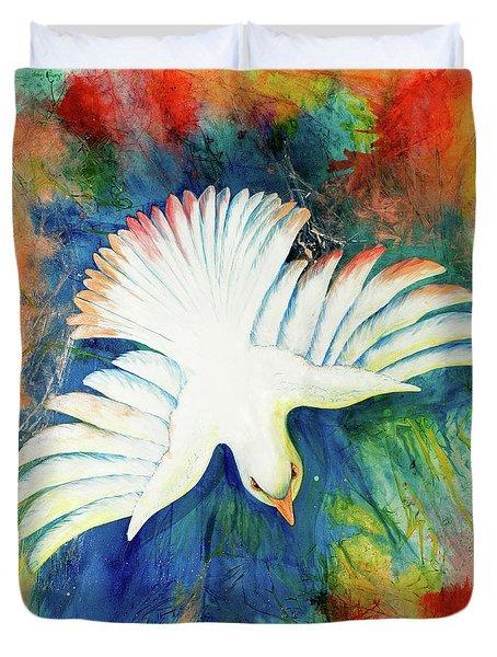 Spirit Fire Duvet Cover by Nancy Cupp