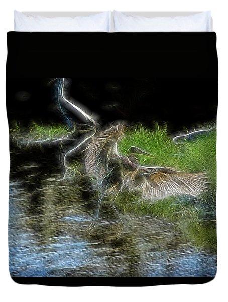 Spirit Garden 4 Duvet Cover by William Horden