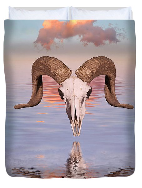 Spirit Goat Duvet Cover by Jerry McElroy