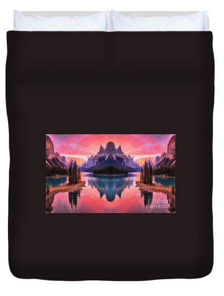 Spirit Island Reflections Duvet Cover