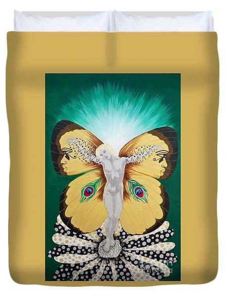 Blaa Kattproduksjoner             Spirit Of Aurelias Flight Duvet Cover