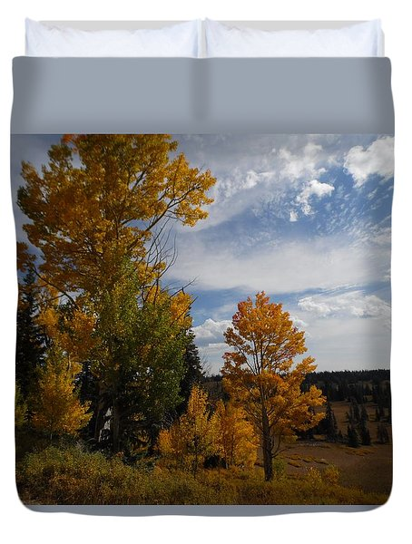 Duvet Cover featuring the photograph Spirit Of Autumn Dixie National Forest, Utah by Deborah Moen