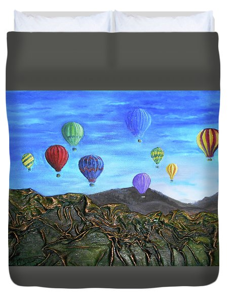 Spirit Of Boise Duvet Cover by Angela Stout
