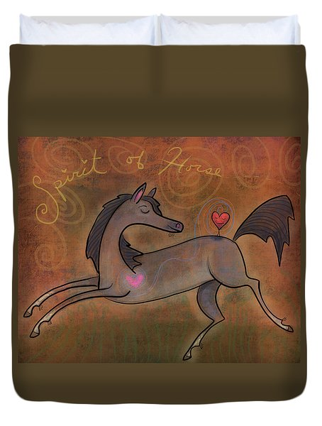 Duvet Cover featuring the digital art Spirit Of Horse by Marti McGinnis