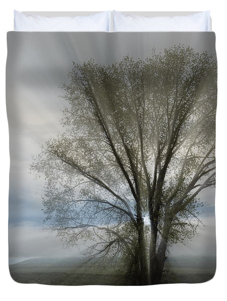 Duvet Cover featuring the photograph Spirit Of Nature by Sandra Bronstein