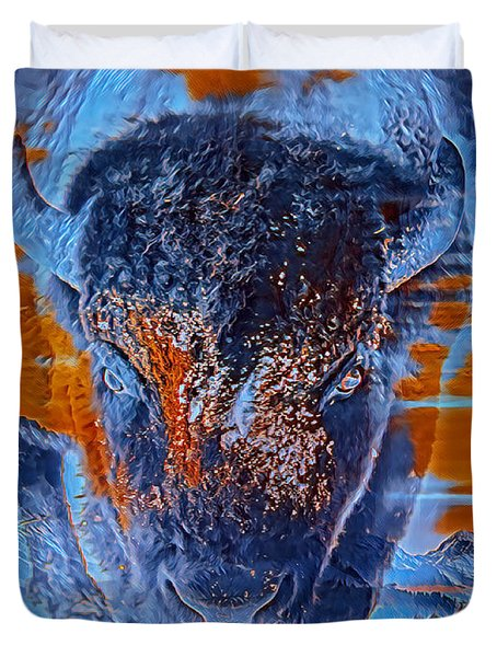 Spirit Of The Buffalo Duvet Cover