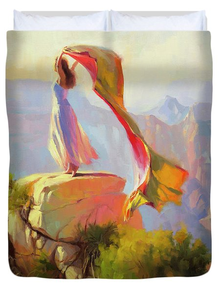 Spirit Of The Canyon Duvet Cover