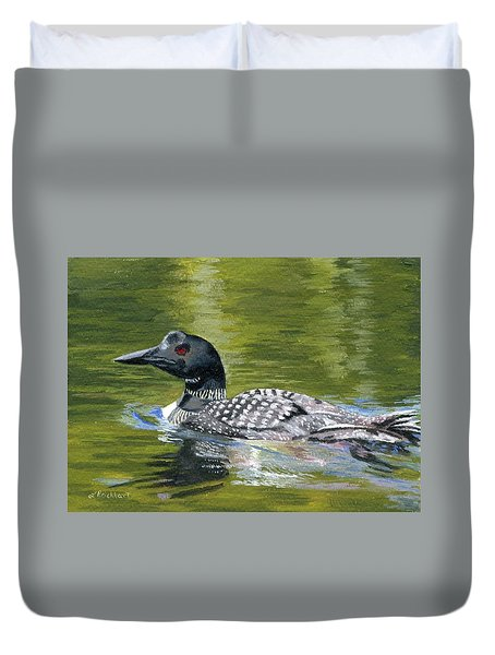 Duvet Cover featuring the painting Spirit Of The North by Lynne Reichhart