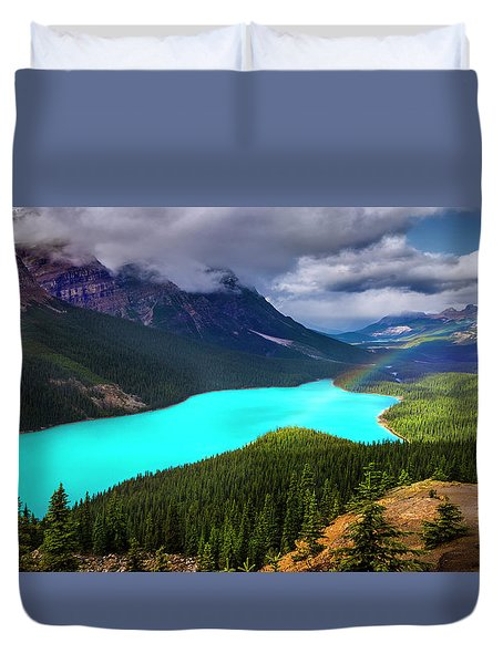 Duvet Cover featuring the photograph  Spirit Of The Wolf by John Poon