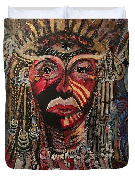 Spirit Portrait Duvet Cover