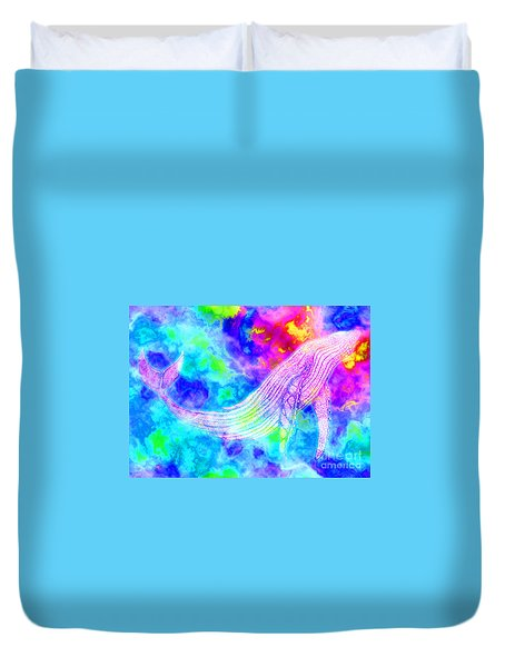Spirit Whale 3 Duvet Cover by Nick Gustafson