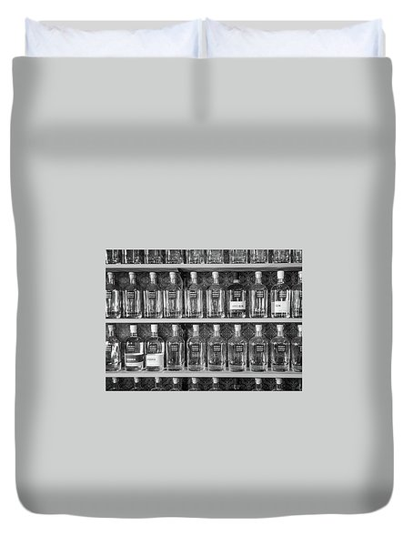 Duvet Cover featuring the photograph Spirit World Bottles by T Brian Jones