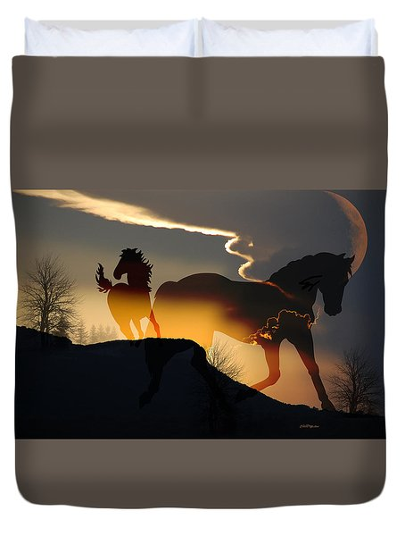 Spirits In The Sky Duvet Cover