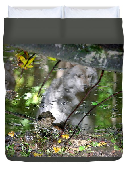 Spirits Of Wolves Duvet Cover by Scott Mahon