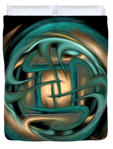 Spiritual Art - Healing Labyrinth By Rgiada Duvet Cover