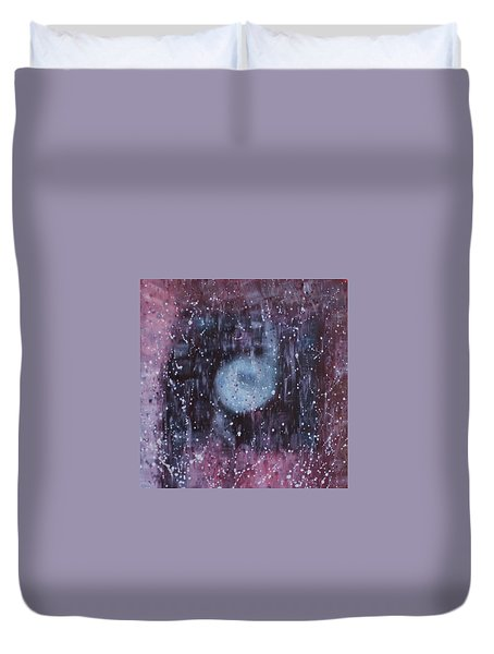 Duvet Cover featuring the painting Spiritual Destination by Min Zou