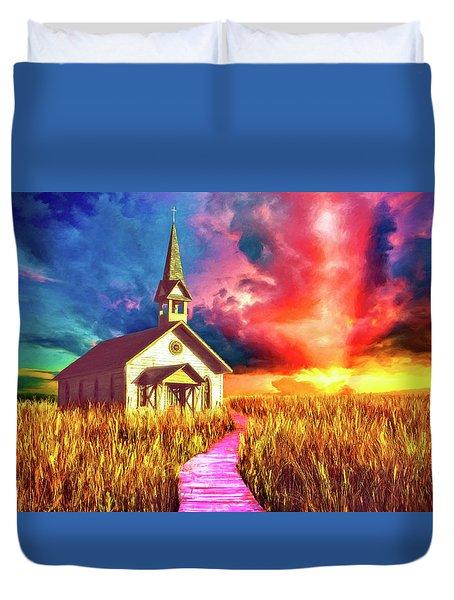Spiritual Event Duvet Cover