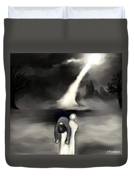 Spiritual Rescue Duvet Cover by Carmen Cordova