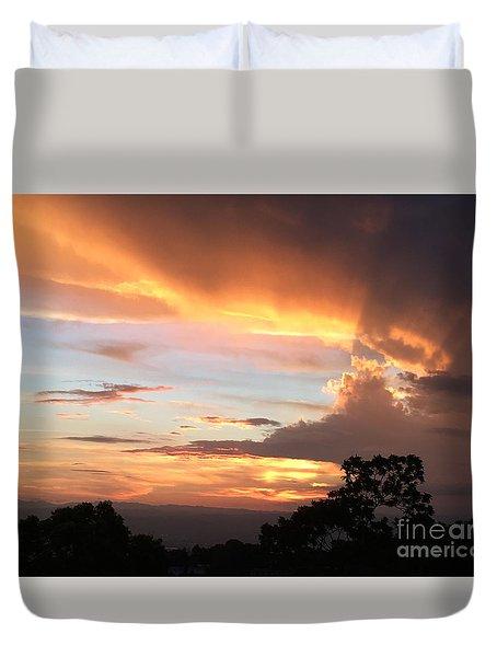 Spiritual Sunset Duvet Cover by The Art of Alice Terrill
