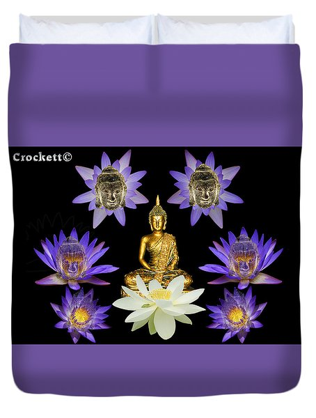 Spiritual Water Lilly Duvet Cover