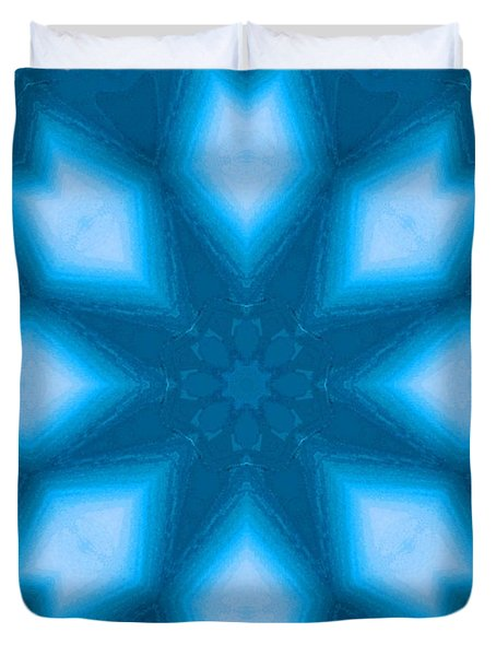 Duvet Cover featuring the digital art Spiro #2 by Writermore Arts