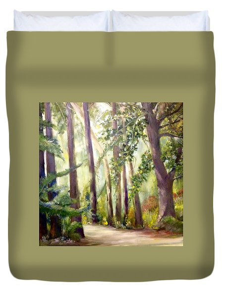 Spirt Of The Green Trees Duvet Cover