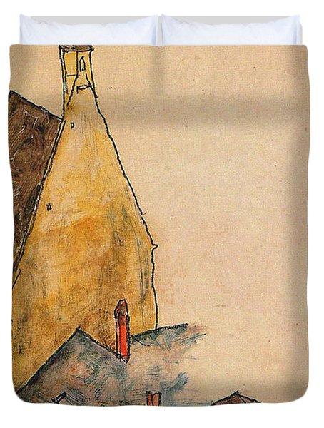 Spitalskirche Molding 1918 Duvet Cover