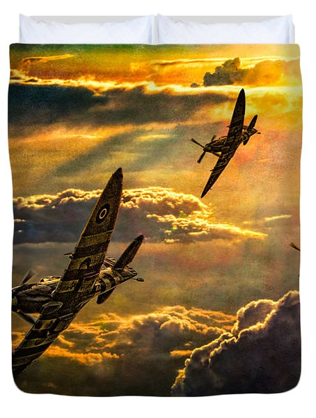 Spitfire Attack Duvet Cover