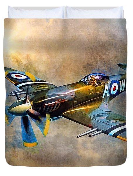 Spitfire Dawn Flight Duvet Cover