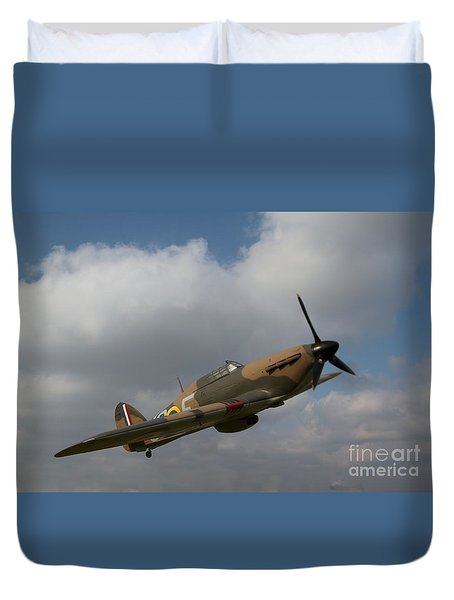Duvet Cover featuring the photograph Spitfire by Gary Bridger
