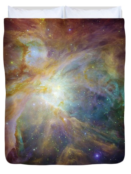 Spitzer And Hubble Create Colorful Masterpiece Duvet Cover