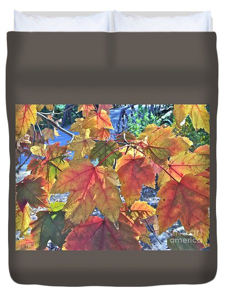 Splash Of Autummmmmm Duvet Cover