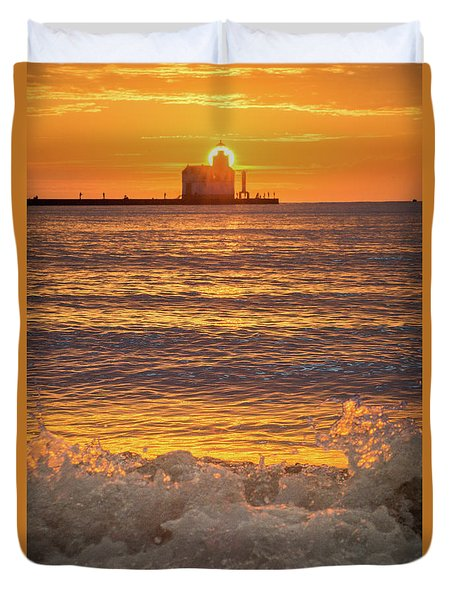 Duvet Cover featuring the photograph Splash Of Light by Bill Pevlor