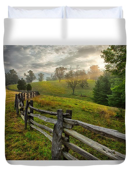 Splash Of Morning Light Duvet Cover by Dan Carmichael