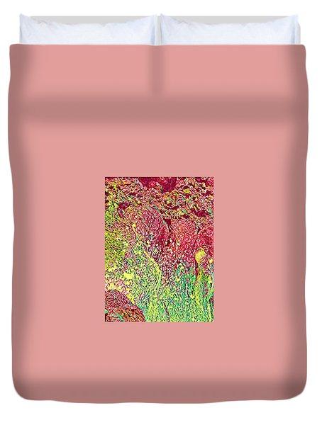Splash Of Red - Heart Of Pele Duvet Cover