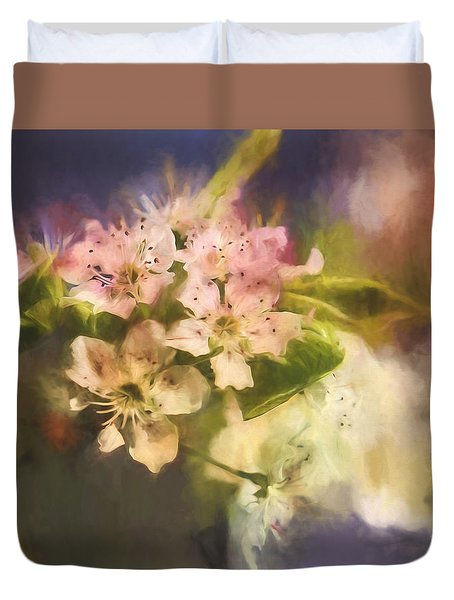 Splash Of Spring Duvet Cover
