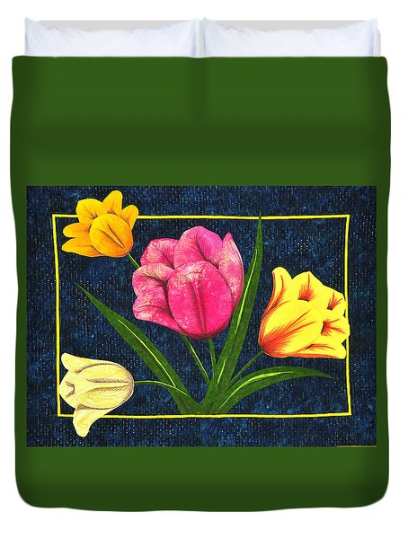 Splash Of Tulips Duvet Cover