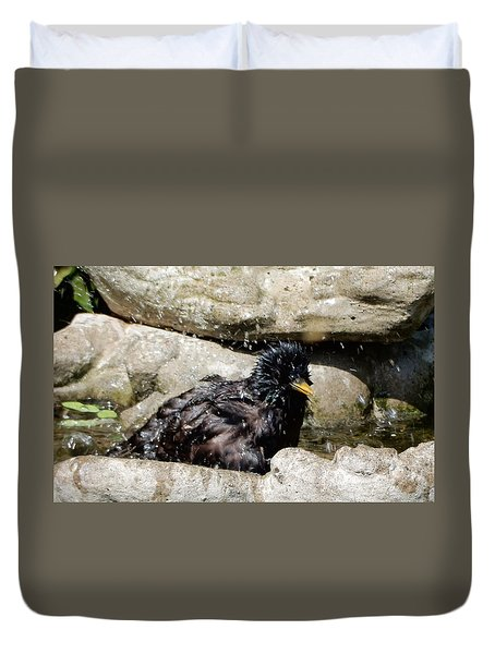 Duvet Cover featuring the photograph Splash Time by Betty-Anne McDonald