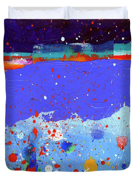 Splash#5 Duvet Cover by Jane Davies