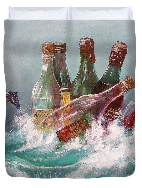 Splattered Wine Duvet Cover