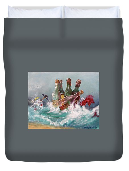 Splattered Wine Duvet Cover