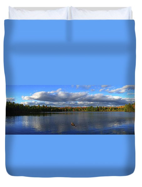 Splendid Autumn View Panoramic Duvet Cover by Brook Burling
