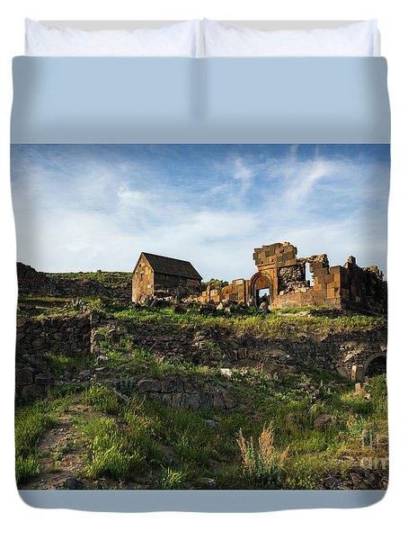 Splendid Ruins Of St. Sargis Monastery In Ushi, Armenia Duvet Cover
