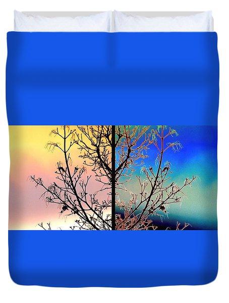 Splendid Spring Fusion Duvet Cover by Will Borden