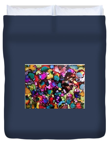 Duvet Cover featuring the painting Splendor by Denise Tomasura