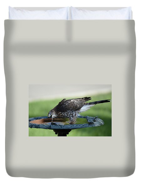 Water And The Hawk Duvet Cover