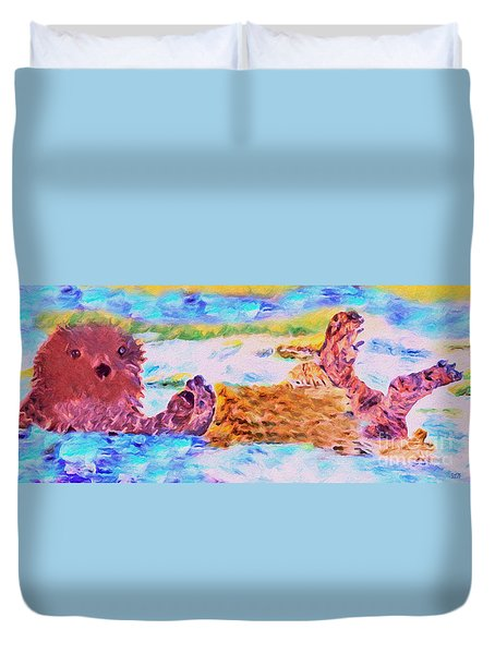 Splish Splash Duvet Cover by David Millenheft